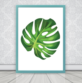 Plakat WZÓR OM206 monstera